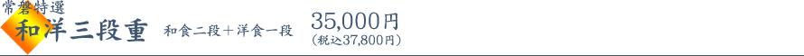 慶びのお正月料理 おせち 常磐特選 和洋三段重 税込 37,800円